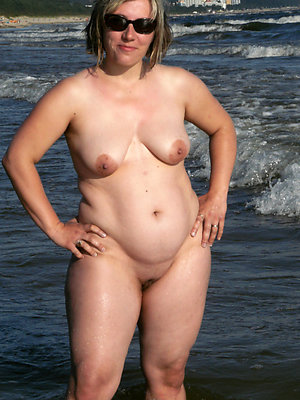 full-grown beach women uncovered