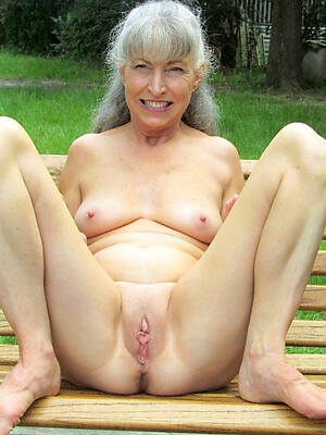 naked 60 year old column displaying her pussy
