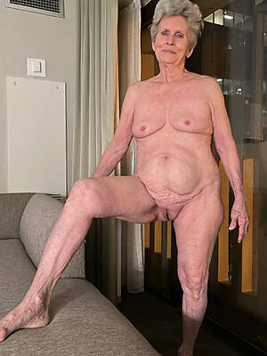 sexy old grandmas displaying her pussy