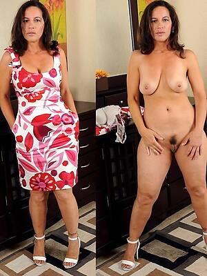 amazing mature dressed undressed