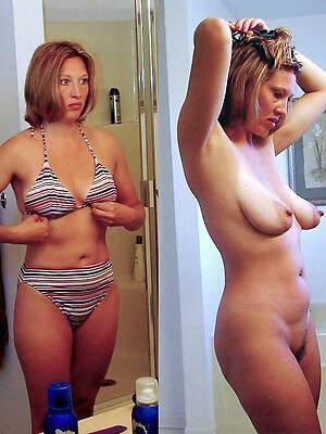 mature dressed undressed posing nude