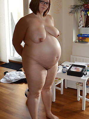 hot sexy grown-up pregnant tits