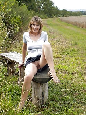 mature women upskirts posing