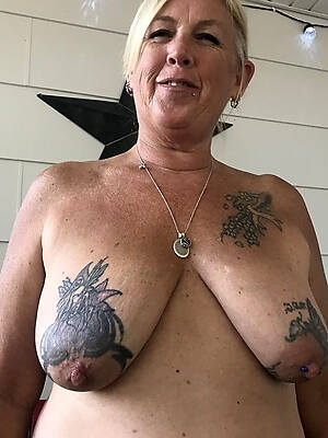 petite old mature women with tattoos