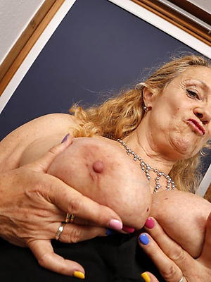 old lady boobs bared