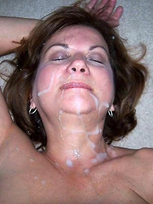 slutty amateur mature facial porn pics