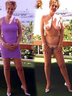 mature milf dressed undressed stripped