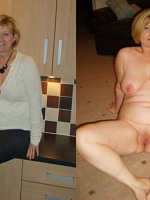 absurd mature dressed coupled with undressed photo