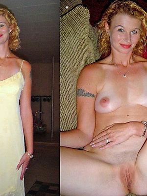 beauties dressed undressed mature pics