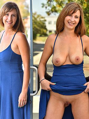 horny dressed undressed matures