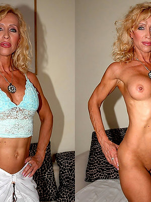 super-sexy mature dressed and undressed