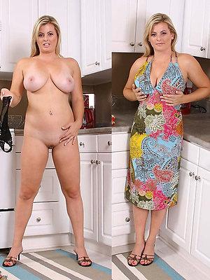 slutty mature dressed undressed pics