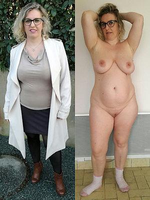 wonderful mature dressed undressed free