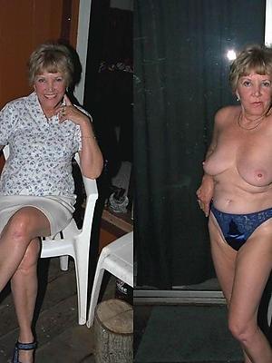 hotties mature dressed vs in one's birthday suit porn pics