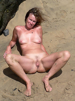 sexy hot mature nudist seashore