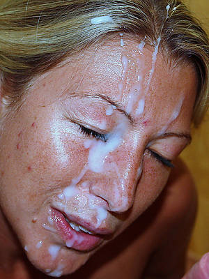 mature gets facial unorthodox porn