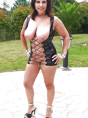 sexy drained mature ladies in latex stripped