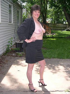 mature woman in heels sure body