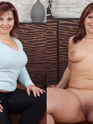 pornstar amateur mature before dressed and after undressed