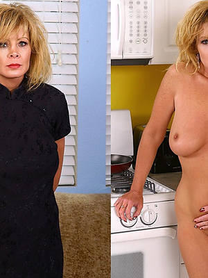 slutty mature in advance dressed with an increment of after undressed pics