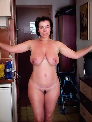 hot dispirited naked column posing nude