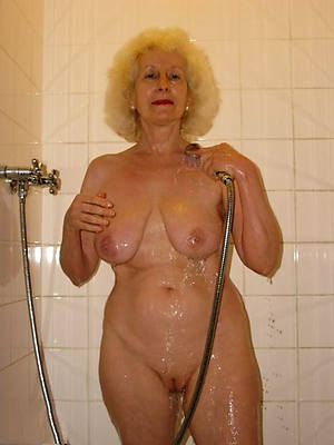 horny mature women in the shower stripped