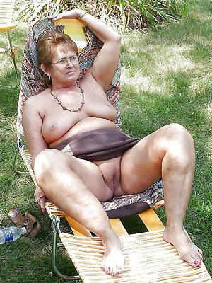 mediocre nude grandma stripped