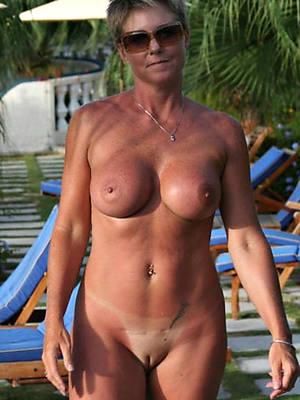 hot mature women over 50 posing shorn