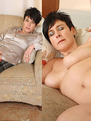 milf dressed and stripped amateur tits