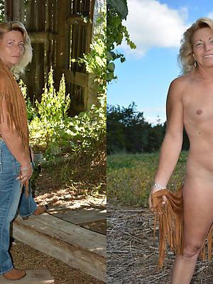 dressed undressed mature ameture porn