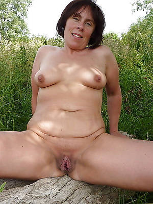 horny mature outdoors