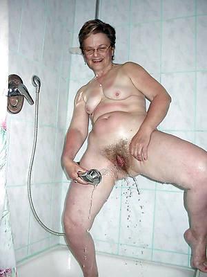 short hair mature wife shower