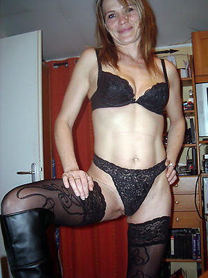 mature moms stockings stripped