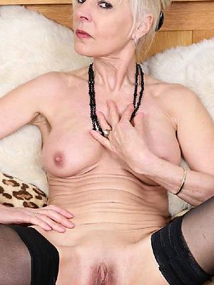 sexy grandma displaying her pussy