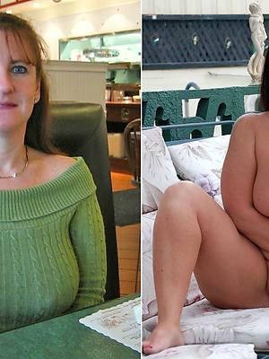 beautiful mature ladies dressed and undressed