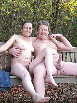 homemade mature couple displaying pussy
