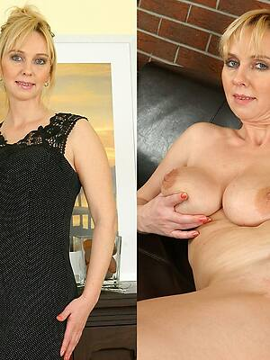 naked pics of mature women dressed & undressed