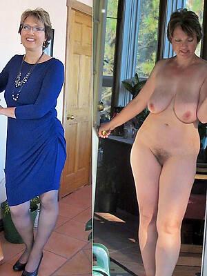 beautiful dressed undressed photo