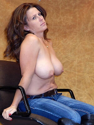 busty topless milf here tight jeans
