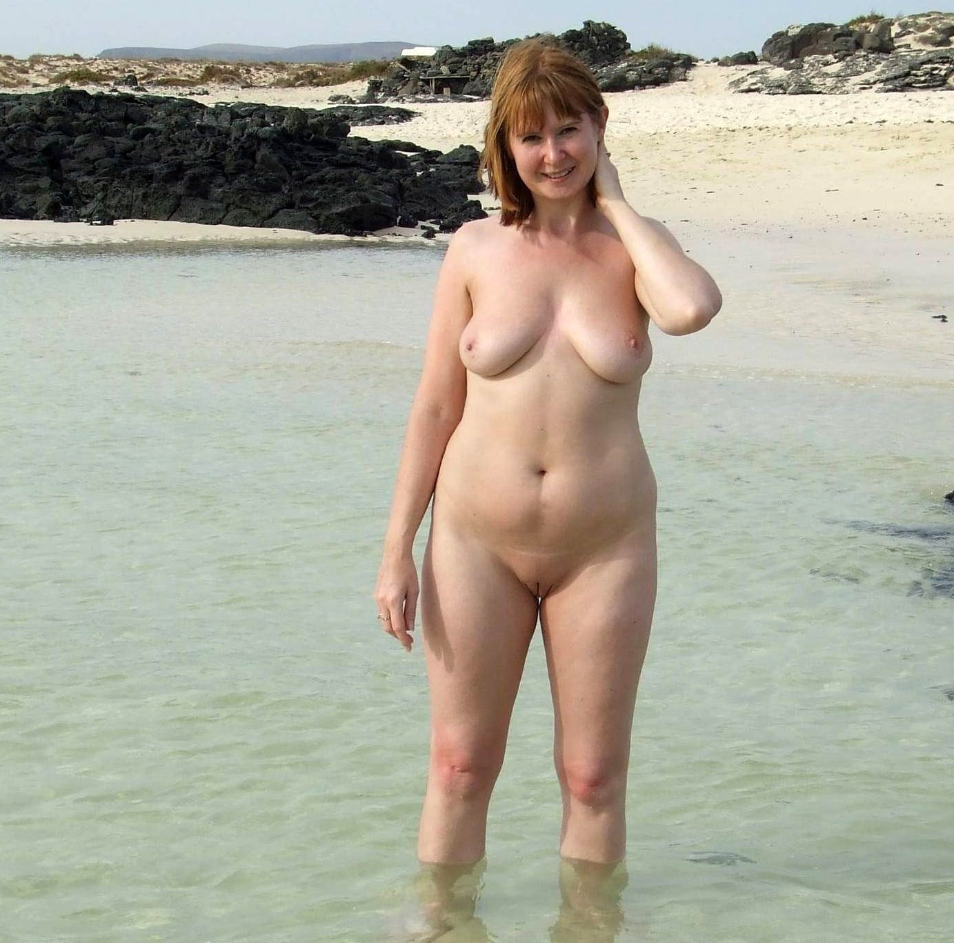 Nude beaches Mature excited too