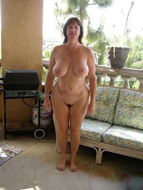 Outside mature big tites