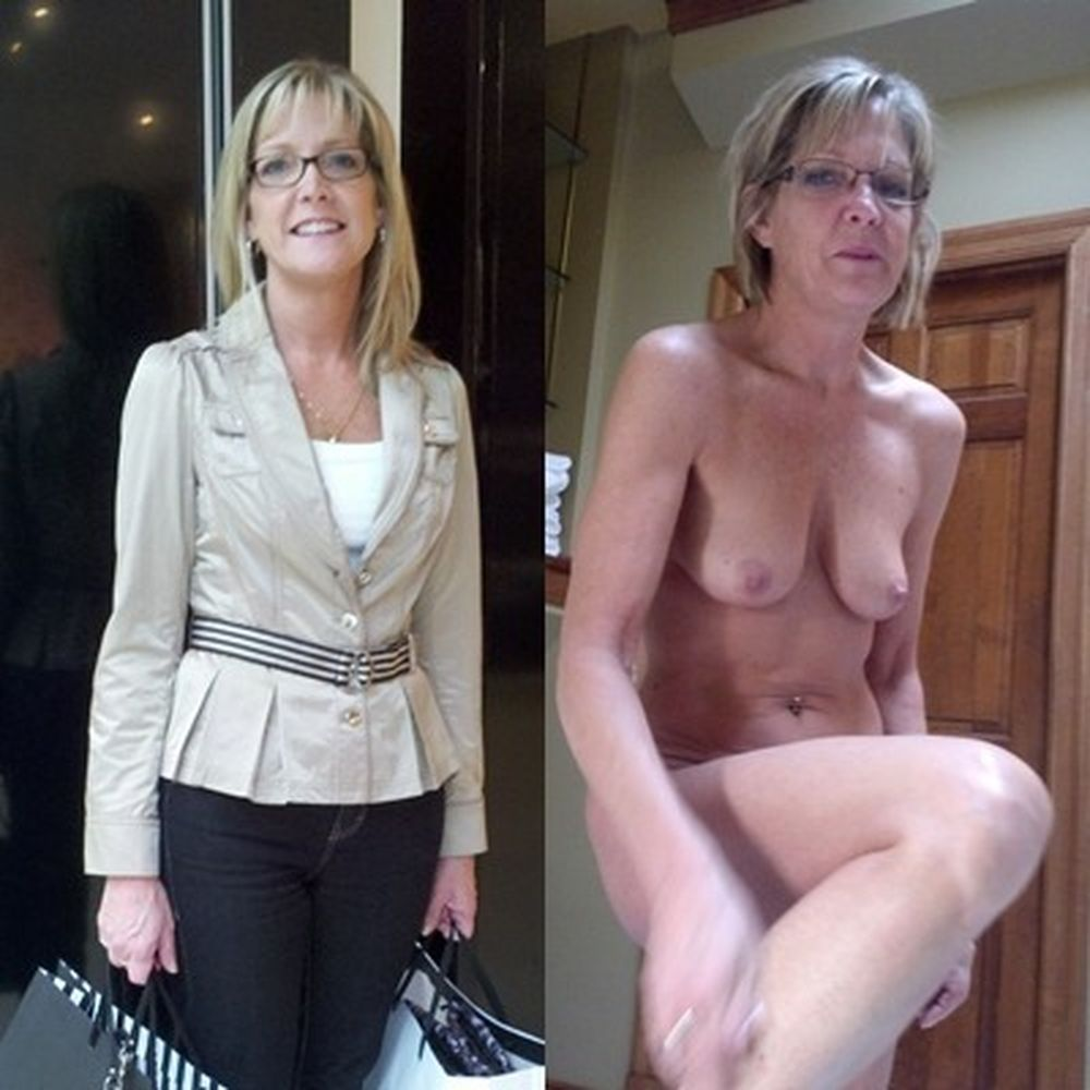 Mature women dressed undressed