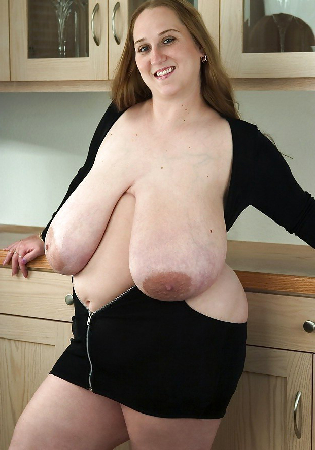 Huge sagging tits